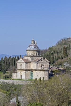 montepulciano: Madonna di San Biagio near  Montepulciano