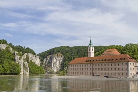 Danube Gorge and monastery Weltenburg
