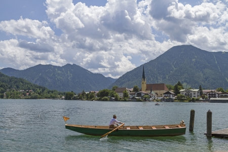 Rowing ferry from Rottach-Egern to Tegernsee