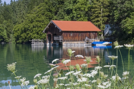 boathouse: Idyllic boathouse on Lake Walchensee