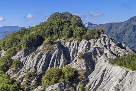 apennines: Badlands in Alpi di Serra in Emilia Romagna