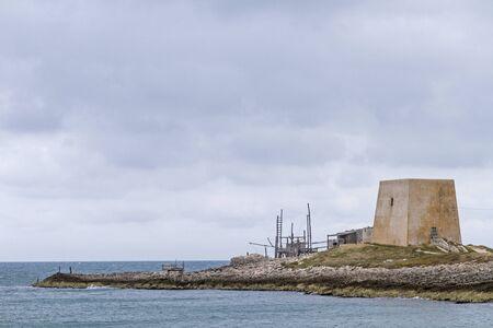watchtower: Old watchtower at the coast of Gargano
