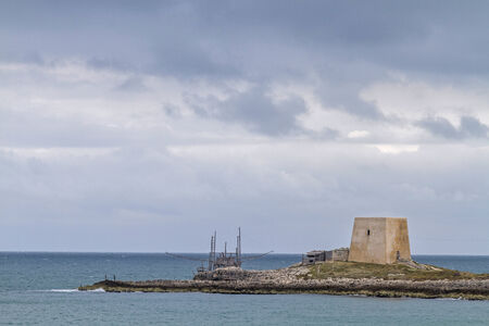 foggia: old watchtowers at the wild coast of Gargano