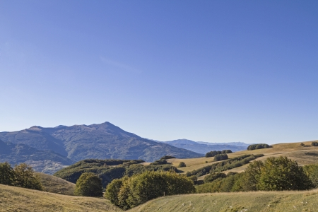sibillini: Summer landscape in the mountains Sibillini Stock Photo