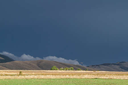 severe weather: storm clouds in Majella mountains Stock Photo