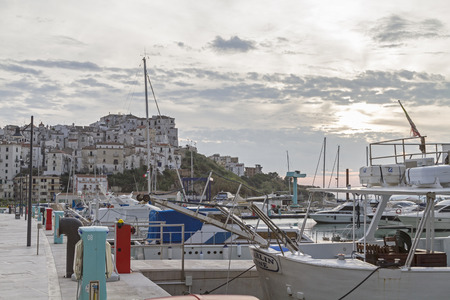 rodi: The port in Rodi Garganico Editorial