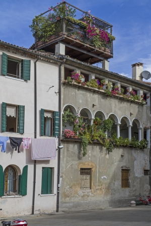treviso: Roof garden on an idyllic town house in Treviso