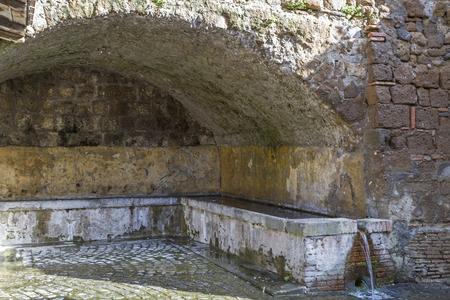 tuscania: Historical wash house in Tuscania in Lazio Stock Photo