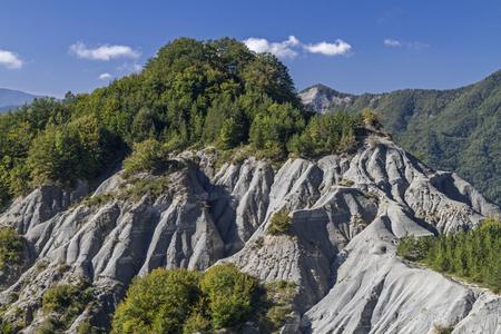 apennines: Badlands in Alpi di Serra in Apennines