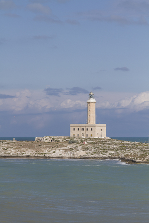 foggia: The Lighthouse of Vieste is one of the most important signal  tower of  Italy Editorial