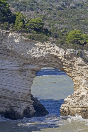 natural wonders: Arco San Felice -  famous rock gate in Puglia Stock Photo