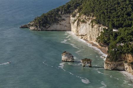 puglia: Faraglione - famous rocks in Puglia
