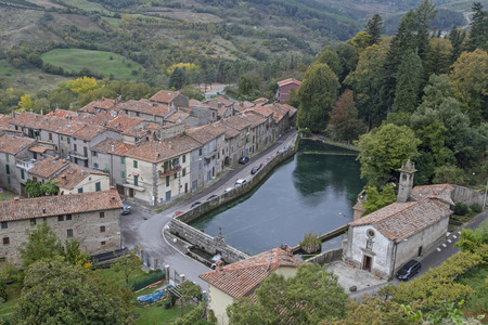 Santa Fiora - one of the most beautiful medieval towns in the Amiata area Standard-Bild