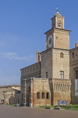bustling: Palazzo dei Pio - City Hall of the bustling tourist town of Carpi