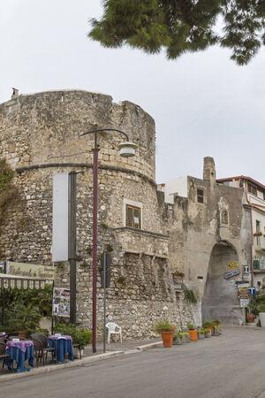 foggia: town entrance in Peschici