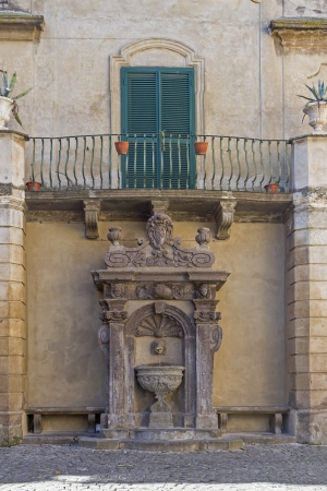 tuscania: idyllic fountain in the center of Tuscania