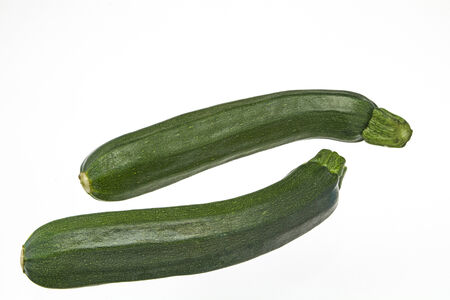 courgettes: Two courgettes on white background
