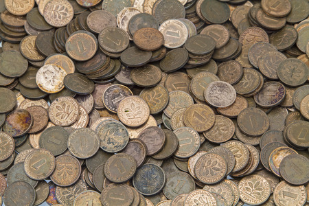 pennies: Pennies, old coins from Germany Stock Photo