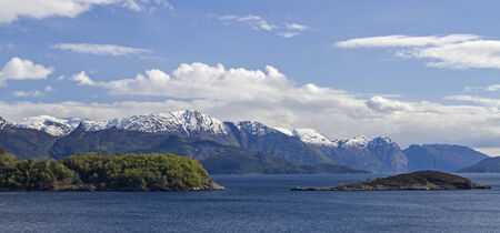 best known: Overlooking the Hardangerfjord one of the best known and largest fjords on the Norwegian west coast