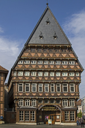 characterized: The old city of Hildesheim in Lower Saxony is characterized by its historic buildings  Stock Photo