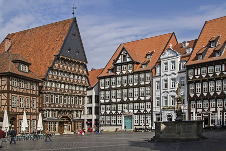 characterized: The old city of Hildesheim in Lower Saxony is characterized by its historic buildings Editorial