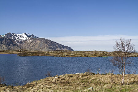 sund: View from the island gims�y over the Sundklakkstraumen after Vestavagoy