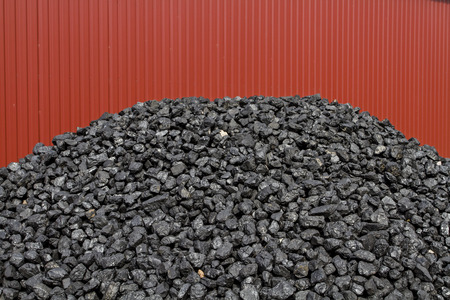 indispensable: Coal pile - still indispensable for energy Stock Photo