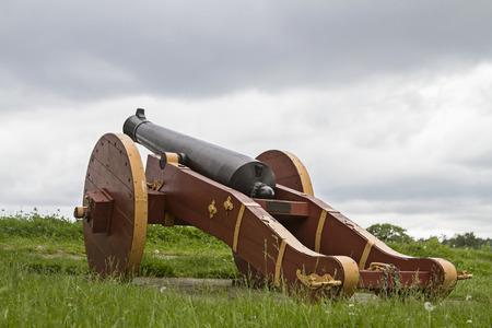 Gun on Fortress Fredrikstad Editorial