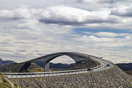 bridging: The Atlantic Road along the Norwegian west coast is one of the most interesting and popular transport connections in Europe