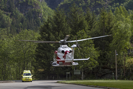 on the skids: Rescue helicopter and ambulance in Norway Editorial