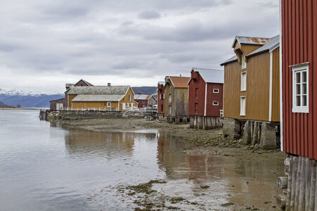 Mosjoen with its old colorful wooden houses is a popular destination for many travelers photo