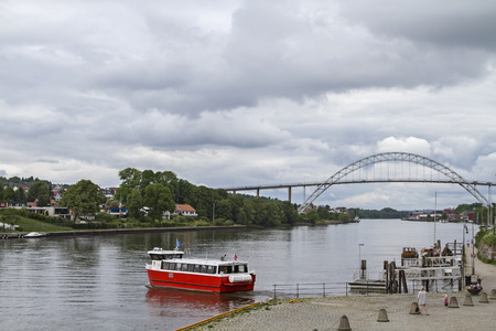 Fredrikstad - Ferry and bridge over the Glomma combine the modern center with the old fortified town Gamlebyen