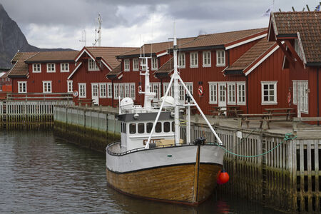 rorbus  in Svolvaer - red and ubiquitous in many Lofoten towns