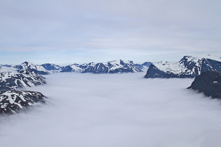 The Dalsnibba is a summit, which is known for its view of the Geirangerfjord photo