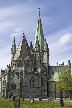 The Nidaros Cathedral in Trondheim is one of the largest and most important churches in Norway and is considered as a national shrine