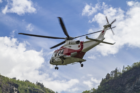 on the skids: Flying rescue helicopter in Norway Editorial