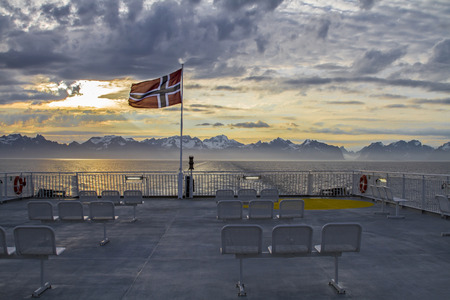 View from the ship to the Lofoten photo