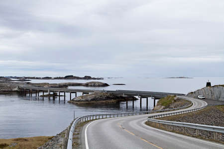 bridging: The Atlantic Road along the Norwegian west coast is one of the most interesting and popular transport links in Europe