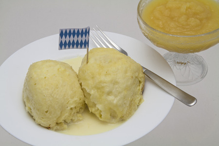 Germ dumpling - popular and sweet dish and dessert in Germany photo