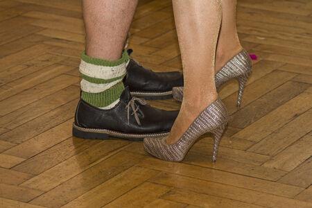 brogues: Contrast program - Detail shot on a Bavarian dance floor