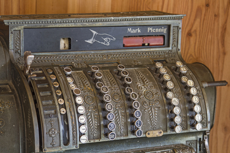 ingestion: Old cash register, as which were used decades ago Editorial