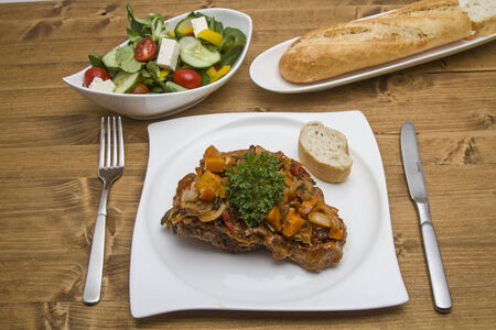 Ossobuco alla milanese is a traditional stew from Italy
