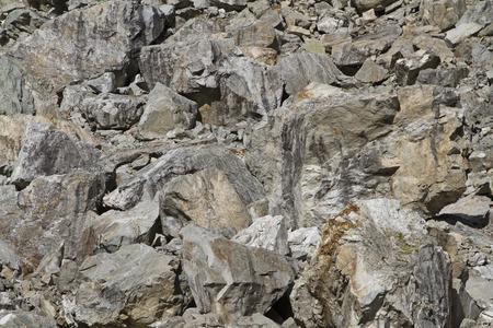 rockslide: Stone desert after a landslide in Switzerland