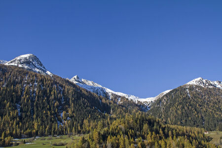 watershed: Autumn - Rhaetian Alps on the way up to the Albula Pass