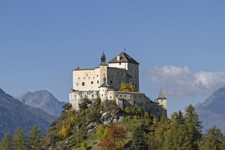 Tarasp is the most powerful and most famous castle in the Engadine Reklamní fotografie