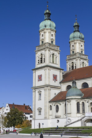 lawrence: The Basilica of St. Lawrence in Kempten is a former abbey church of the Benedictine and what built in the 17th century Stock Photo