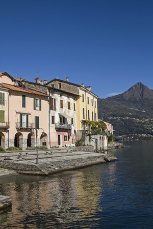 dyllic: Rezzonico - dyllic little fishing village situated on Lake Como Stock Photo