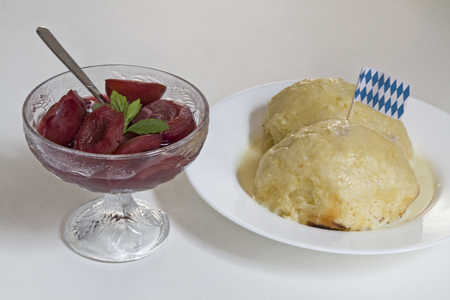 yeast dumpling - popular and sweet dish and dessert in Germany photo