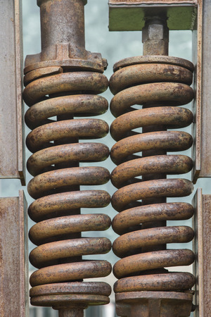 inseparable: All types of springs are an inseparable part of the technical area Stock Photo