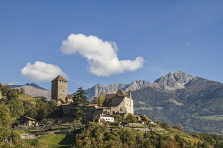 meran: The Tyrol Castle in Burggrafenamt near Merano was the family seat of the Counts of Tyrol Editorial